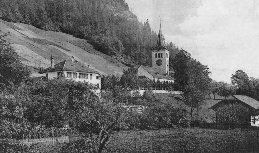 Alte Fotografie - Kirche Boltigen